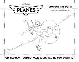 Disney Planes Connect The Dots Coloring Page