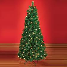 7ft Christmas Tree With Lights by Christmas Trees Hammacher Schlemmer