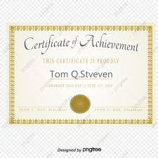 Vector De Certificado Carta De Nombramiento Certificado Oro