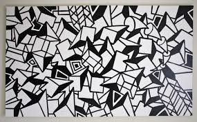 ORIGINAL Black And White Abstract Contemporary Minimalism Fine