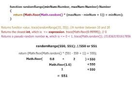 math ceil floor javascript tip get a random number within a specified range using as3
