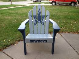Dallas Cowboys Adirondack Chair I Painted For My Husband ... Hardwood Rocking Chair Michigan State Girls Toddler Navy Dallas Cowboys Cheer Vneck Tshirt And Blue Black Gaming With Builtin Bluetooth Premium Bungee Classic Americana Style Windsor Rocker White Baltimore Ravens Big Daddy Purple Composite Adirondack Deck Video 16 Adirondack Chairs Dallas Patio Fniture Ideas Oversized Table Lamp