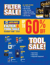 NAPA AUTO PARTS FILTER AND TOOL SALE - OCTOBER 15TH To 21ST 2017 ...