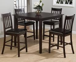 Jofran Marin County Merlot 5-Piece Counter Height Table ...