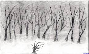 Large Size Of Coloring Pagesmagnificent Drawing Forest Trees Under The Oak 1c Pages