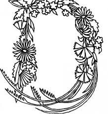 Alphabet Flowers Letter D Coloring Pages
