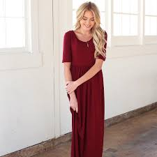 leven u0027s modest clothing miranda maxi dress burgundy