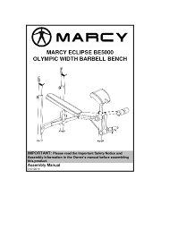 Marcy Ct4000 Roman Chair by 14mebe5000 Marcy Eclipse Olympic Width Barbell Bench Be5000 Assembly Manual 1 Pdf Jpg