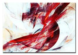 details zu wandbild abstrakt designs grafik rot weiss gerahmt leinwand wohnzimmer deko