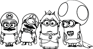 Super Mario Brothers 3 Coloring Pages Bros Characters Minions New Wii To Print Full Size