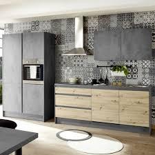 küchenzeile küchenblock küche chromix beton optik anthrazit