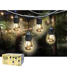 feit electric outdoor weatherproof string lights set live wire