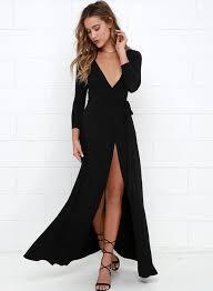 women u0027s deep v neck long sleeve slit maxi dresses novashe com