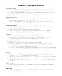 Sample Objective In Resume For Highschool Graduate Staff Accountant Entry Level Objectives Exam