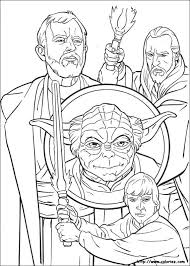 Jedi Knights And Yoda Coloring Page All STAR WARS Pages Including This Are Free