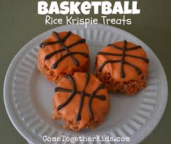 Rice Krispie Treats Halloween Theme by Come Together Kids Basketball Krispie Treats