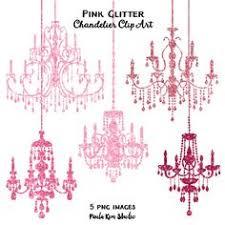 Pink Glitter Chandelier Clip Art By PaulaKimStudio