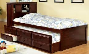 buy furniture of america cm7763ch south land captain s bed with