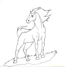 Spirit Horse Coloring Pages Stallion Of The And Rain