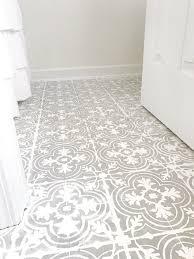 DIY Tutorial How To Paint Your Linoleum Or Tile Floors Look Like Patterned
