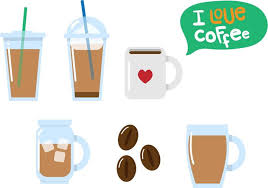 Flat Iced Coffee Vectors