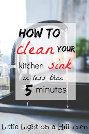 Kitchen Sink Stinks When Running Water by How To Deep Clean Your Kitchen Sink In Less Than 5 Minutes