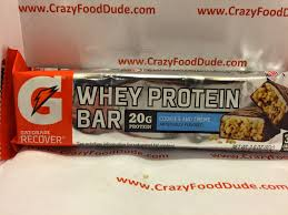 Review Gatorade G Series Recover Cookies And Creme Whey Protein Bar