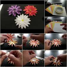 How To Make Flower From Paper Step By Diy