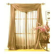 Sheer Curtain Panels 108 Inches by 108 Inch Long Sheer Curtains Chiffonade Sheer Curtain By Peri