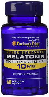 60-Count Puritan's Pride 10mg Melatonin Rapid Release ...