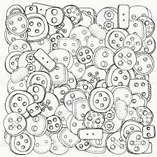 Pattern For Coloring Book With Clothes Buttons Royalty Free Stock Vector Art