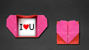 Origami Heart Box Envelope