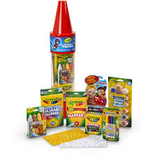 Crayola Wooden Table And Chair Set by Crayola 78 Piece Color Capsule Red Walmart Com
