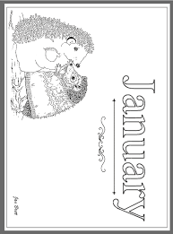 Jan Bretts Months Of The Year Coloring Pages January