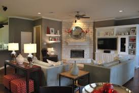 Rectangular Living Room Dining Room Layout by Living Room Furniture Placement In With Fireplace And Pictures
