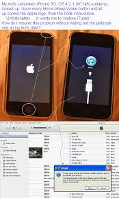 How to resolve locked up jailbroken iPhone stuck in