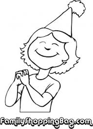 Girl With Hat Coloring Pages