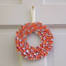 How To Make A Paper Spring Wreath