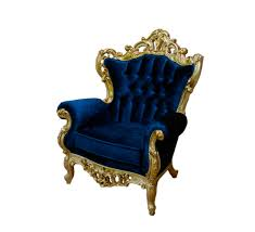 French Accent Chair Blue by Accent Chairs Lounges And Seating