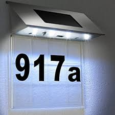 deuba皰 solar powered led house number door light wall number