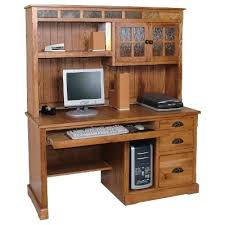 desk sauder computer desk with hutch cinnamon cherry sauder
