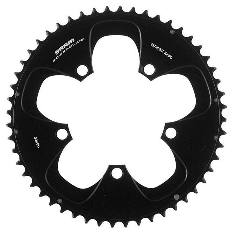 SRAM Red Chainring Set - 52T & 36T, 110mm, Black, 10 Speed Road Bicycle
