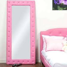 pink flamingo wall mirror w tufted pink faux leather