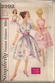 Vintage 50s UNCUT Simple Sewing Pattern PARTY By HoneymoonBus 1699