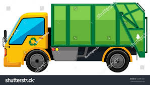 Rubbish Truck On White Background Illustration Stock Vector (Royalty ...