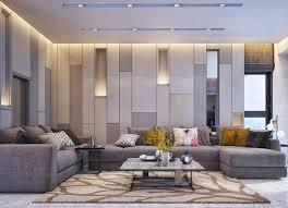 schöne wohnzimmer ideen in grau und dunkelgelb leuchte