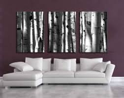 Canvas Wall Art For Dining Room by Large 5 Panel Wall Art Aspen Tree Canvas Decor Five Multipiece