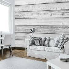 fototapete graue bretter imitation holzoptik wohnzimmer