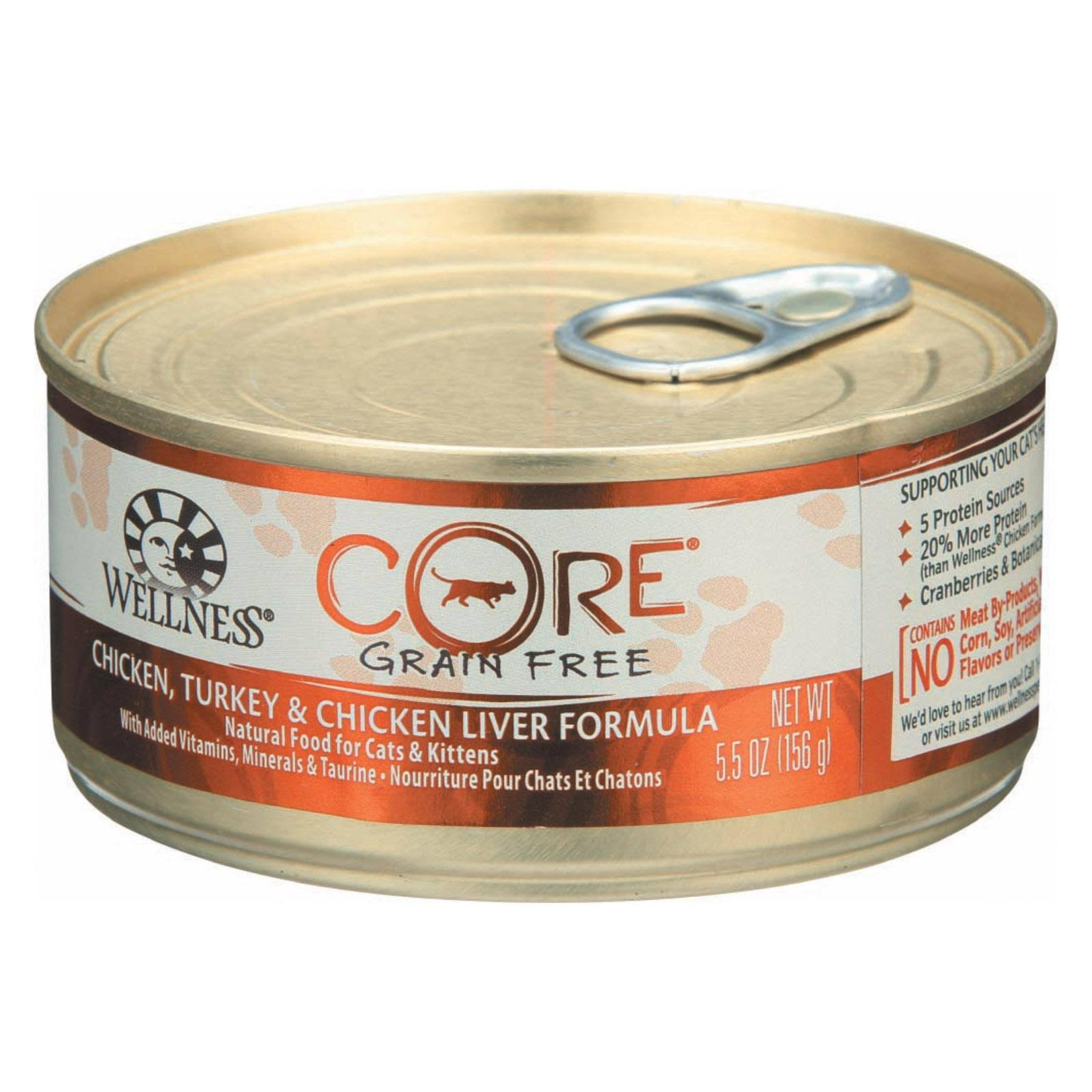 Wellness Core - Chicken, Turkey & Chicken Liver Formula, 5.5oz