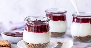 käsekuchen im glas schnelles dessert ohne backen